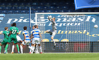 Joe Lumley of Queens Park Rangers misses the header as Sheffield Wednesday get their second goal during Queens Park Rangers vs Sheffield Wednesday, Sky Bet EFL Championship Football at Loftus Road Stadium on 11th July 2020