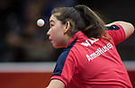Wales Anna Hursey in action during her singles match <br /> <br /> *This image must be credited to Ian Cook Sportingwales and can only be used in conjunction with this event only*<br /> <br /> 21st Commonwealth Games - Table tennis -  Day 2 - 06\04\2018 - Oxenford - Gold Coast City - Australia