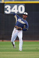 San Diego Padres Rod Boykin (3) during practice before an instructional league game against the Milwaukee Brewers on October 6, 2015 at the Peoria Sports Complex in Peoria, Arizona.  (Mike Janes/Four Seam Images)