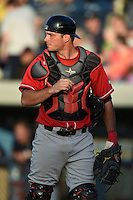 Great Lakes Loons catcher Spencer Navin (33) during a game against the West Michigan Whitecaps on June 4, 2014 at Fifth Third Ballpark in Comstock Park, Michigan.  West Michigan defeated Great Lakes 4-1.  (Mike Janes/Four Seam Images)