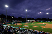 General view of the Batavia Muckdogs NY-Penn League Semifinal Playoff game against the Lowell Spinners on September 4, 2019 at Dwyer Stadium in Batavia, New York.  Batavia defeated Lowell 4-1.  (Mike Janes/Four Seam Images)