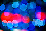 Abstract Blue and Red Pattern (Out of Focus Christmas Lights)
