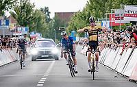 Pascal Eenkhoorn (NED/Jumbo-Visma) wins the Heylen Vastgoed Heistse Pijl 2021 (BEL)<br /> <br /> One day race from Vosselaar to Heist-op-den-Berg (BEL/193km)<br /> <br /> ©kramon