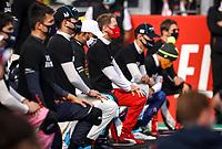 1st November 2020, Imola, Italy; FIA Formula 1 Grand Prix Emilia Romagna, Race Day;  44 Lewis Hamilton GBR, Mercedes-AMG Petronas Formula One Team takes a knee against racism