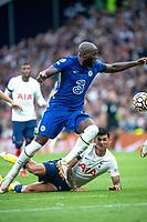 19th September 2021; Tottenham Hotspur Stadium, Tottenham, London; Romelu Lukaku skips the tackle from Romero during the Premier League match between Tottenham Hotspur and Chelsea at Tottenham Hotspur Stadium
