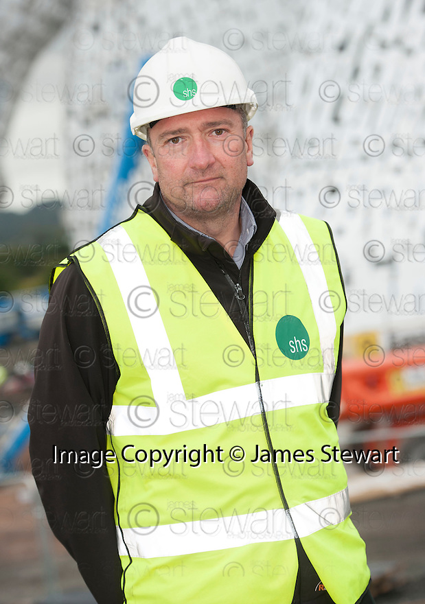Dave Perry, Contracts Manager, Shs Construction, at the Kelpie construction site.
