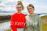 Enjoying a stroll in Lohercannan on Tuesday, l to r: Megan O'Connell and Cora Broderick.