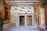Dolphin Freco of the Queens Megaron, Knossos Palace Archaeological Site, Crete