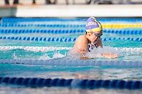 Santa Clara, California - Friday June 3, 2016: Madison Ward competes in the Women's 100 LC Meter Breaststroke in the B final.