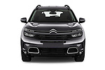 Car photography straight front view of a 2019 Citroen C5-Aircross Shine 5 Door SUV Front View