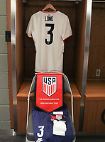 ORLANDO CITY, FL - JANUARY 31: Aaron Long #3 of the United States locker room during a game between Trinidad and Tobago and USMNT at Exploria stadium on January 31, 2021 in Orlando City, Florida.