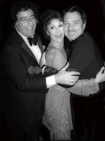 Tony Bennett, Chita Rivera and Cy Coleman 1978<br /> Photo By Adam Scull/PHOTOlink/MediaPunch