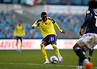 31st October 2020; The Den, Bermondsey, London, England; English Championship Football, Millwall Football Club versus Huddersfield Town; Adama Diakhaby of Huddersfield Town taking a shot