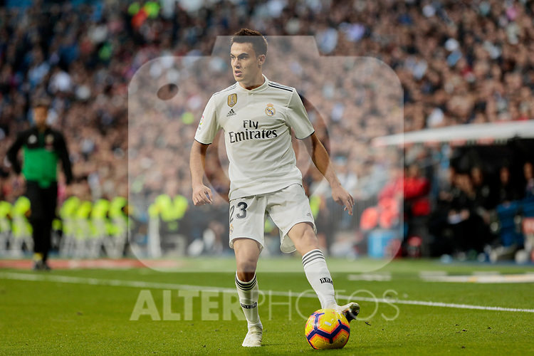 Real Madrid's XXX and Real Valladolid's XXX during La Liga match between Real Madrid and Real Valladolid at Santiago Bernabeu Stadium in Barcelona, Spain. November 03, 2018. (ALTERPHOTOS/A. Perez Meca)
