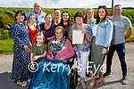 Bridget O'Grady from Castleshannon in Causeway celebrating her 101st birthday with her family on Sunday. L to r: Leah O'Grady, Maureen O'Mahoney, Alisha O'Grady, Liam O'Mahoney, Noreen O'Grady, Eimear and Sinead O'Mahoney, Julianna and Imelda O'Grady, Aileen O'Mahoney and Aidan O'Grady.