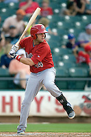 Memphis Redbirds designated hitter Andrew Brown #24 at bat against the Round Rock Express at the Dell Diamond on July 10, 2011 in Round Rock, Texas.  Memphis defeated Round Rock 10-9.  (Andrew Woolley / Four Seam Images)