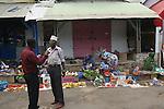 marche de mamoudzou capitale de Mayotte.
