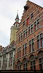 Poortersloge 15th c. Burgher's Lodge and State Archives, Academiestraat, Bruges, Brugge, Belgium