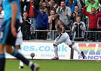 Pictured: Leroy Lita celebrating his goal.Saturday 17 September 2011<br /> Re: Premiership football Swansea City FC v West Bromwich Albion at the Liberty Stadium, south Wales.
