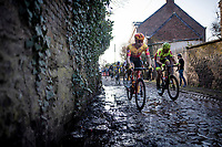 eventul 2nd finisher Rasmus Tiller (NOR/Uno-X Pro) crushing the roughest cobbles<br /> <br /> 53rd Le Samyn 2021<br /> ME (1.1)<br /> 1 day race from Quaregnon to Dour (BEL/205km)<br /> <br /> ©kramon