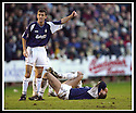 25/1/03       Copyright Pic : James Stewart                  .File Name : stewart-falkirk v hearts 26.OWEN COYLE PLEADS WITH THE REF TO ALLOW TREATMENT TO LEE MILLER.....James Stewart Photo Agency, 19 Carronlea Drive, Falkirk. FK2 8DN      Vat Reg No. 607 6932 25.Office : +44 (0)1324 570906     .Mobile : + 44 (0)7721 416997.Fax     :  +44 (0)1324 570906.E-mail : jim@jspa.co.uk.If you require further information then contact Jim Stewart on any of the numbers above.........