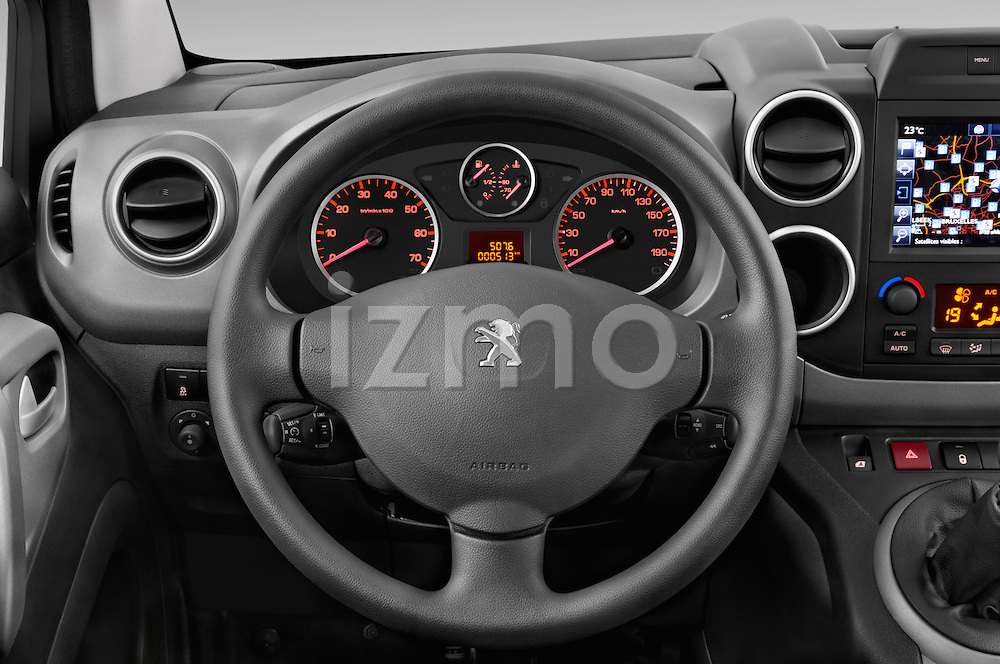Car pictures of steering wheel view of a2015 Peugeot Partner Tepee Outdoor 5 Door Mini Mpv Steering Wheel