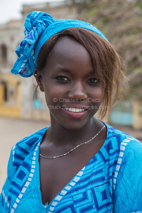 """Senegalese Dancer at Opening Ceremony for Goree Arts Festival, the """"Regard sur Cours"""" Biannual Celebration.  Goree Island, Senegal."""