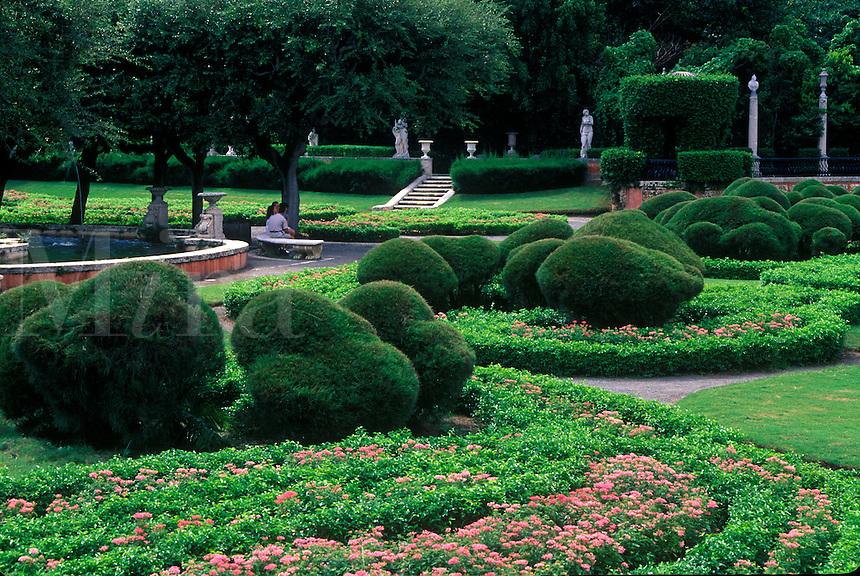 Viscaya Gardens,  formal gardens.
