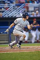 Staten Island Yankees first baseman Dalton Blaser (22) at bat during a game against the Batavia Muckdogs on August 27, 2016 at Dwyer Stadium in Batavia, New York.  Staten Island defeated Batavia 13-10 in eleven innings.  (Mike Janes/Four Seam Images)