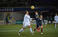 Lorient, France. - Sunday, February 8, 2015:  Abby Wambach (20) of the USWNT. France defeated the USWNT 2-0 during an international friendly at the Stade du Moustoir.
