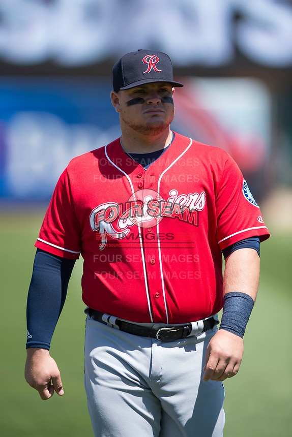Tacoma Rainiers first baseman Daniel Vogelbach (23) before a Pacific Coast League game against the Sacramento RiverCats at Raley Field on May 15, 2018 in Sacramento, California. Tacoma defeated Sacramento 8-5. (Zachary Lucy/Four Seam Images)