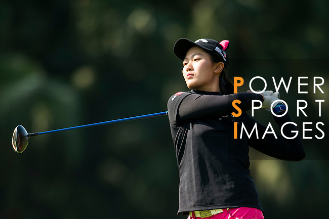 Xiyu Lin of China in action during the Hyundai China Ladies Open 2014 at World Cup Course in Mission Hills Shenzhen on December 14 2014, in Shenzhen, China. Photo by Li Man Yuen / Power Sport Images