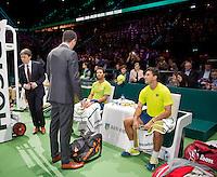 Februari 15, 2015, Netherlands, Rotterdam, Ahoy, ABN AMRO World Tennis Tournament, Jean-Julien Rojer (NED) / Horia Tegau (ROU) <br /> Photo: Tennisimages/Henk Koster