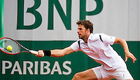 France, Paris , May 26, 2015, Tennis, Roland Garros, Robin Haase (NED)<br /> Photo: Tennisimages/Henk Koster