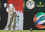 Padraig Harrington tees off on the 9th tee during  Day 2 at the Dubai World Championship Golf in Jumeirah, Earth Course, Golf Estates, Dubai  UAE, 20th November 2009 (Photo by Eoin Clarke/GOLFFILE)