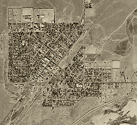 historical aerial photograph Coalinga, California, 1940