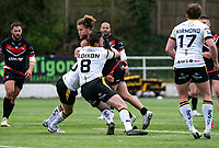 Olsi Krasniqi of London Broncos during the Betfred Challenge Cup match between London Broncos and York City Knights at The Rock, Rosslyn Park, London, England on 28 March 2021. Photo by Liam McAvoy.