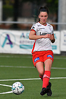 Romy Camps (3) of Zulte Waregem pictured during a female soccer game between  Racing Genk Ladies and SV Zulte-Waregem on the 7 th matchday of play off 2 in the 2020 - 2021 season of Belgian Scooore Womens Super League , friday 14 th of May 2021  in Genk , Belgium . PHOTO SPORTPIX.BE   SPP   JILL DELSAUX