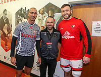 Saturday 22nd February 2020 | Ulster vs Cheetahs<br /> <br /> Coin Toss - Ruan Pienaar, referee Mike Adamson and Alan O'Connor during the PRO14 Round 12 clash between Ulster and the Cheetahs at Kingspan Stadium, Ravenhill Park, Belfast, Northern Ireland. Photo by John Dickson / DICKSONDIGITAL