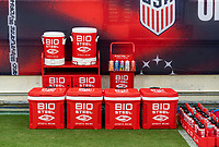 NASHVILLE, TN - SEPTEMBER 5: BioSteel product on the field during a game between Canada and USMNT at Nissan Stadium on September 5, 2021 in Nashville, Tennessee.