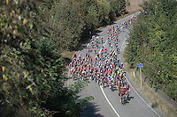 peloton from above<br /> <br /> 12th Eneco Tour 2016 (UCI World Tour)<br /> Stage 6: Riemst › Lanaken (185km)