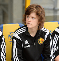 20150523 - SINT-TRUIDEN ,  BELGIUM : Belgian Tinne Van Den Bergh pictured during the friendly soccer game between the Belgian Red Flames and Norway, a preparation game for Norway for the Women's 2015 World Cup, Saturday 23 May 2015 at Staaien in Sint-Truiden , Belgium. PHOTO DAVID CATRY