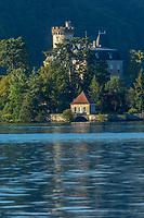 France, Haute-Savoie (74), Lac d'Annecy, Duingt, Le Château de Duingt, Château de Châteauvieux, Château de Ruphy, Château médiéval, XIe siècle // France, Haute Savoie, Lake Annecy, Duingt, The Castle of Duino Castle Chateauvieux Ruphy Castle, Medieval Castle, eleventh century, 11th century
