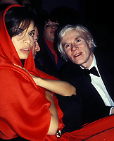 Bianca Jagger Andy Warhol 1978 Photo by Adam Scull-PHOTOlink.net