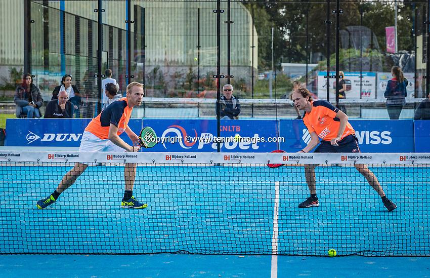 Netherlands, September 6,  2020, Amsterdam, Padel Dam, NK Padel, National Padel Championships, Men's doubles final: -Berend Boers (NED) and Peter Bruijsten (NED)<br /> Photo: Henk Koster/tennisimages.com