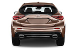 Straight rear view of 2016 Infiniti Q30 Premium 5 Door Hatchback Rear View  stock images