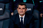 FC Barcelona's coach Ernesto Valverde during La Liga match between FC Barcelona and Real Madrid at Camp Nou Stadium in Barcelona, Spain. October 28, 2018. (ALTERPHOTOS/A. Perez Meca)