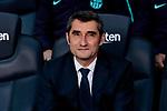 FC Barcelona's coach Ernesto Valverde during La Liga match between FC Barcelona and Real Madrid at Camp Nou Stadium in Barcelona, Spain. October 28, 2018. (ALTERPHOTOS/A. Perez Meca)