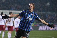 Mario Pasalic of Atalanta celebrates after scoring to give the side a 2-0 lead during the Serie A match at Gewiss Stadium, Bergamo. Picture date: 15th February 2020. Picture credit should read: Jonathan Moscrop/Sportimage PUBLICATIONxNOTxINxUK SPI-0488-0057<br /> Atalanta BC - AS Roma <br /> Photo Jonathan Moscrop / Sportimage / Imago / Insidefoto