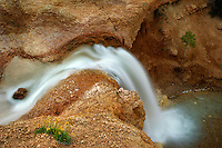 Waterfall on Tropic Ditch stream. Bryce  National Park, Utah